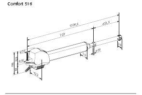 Marantec Comfort 516 Drehtorantrieb 1 Fl Gelig