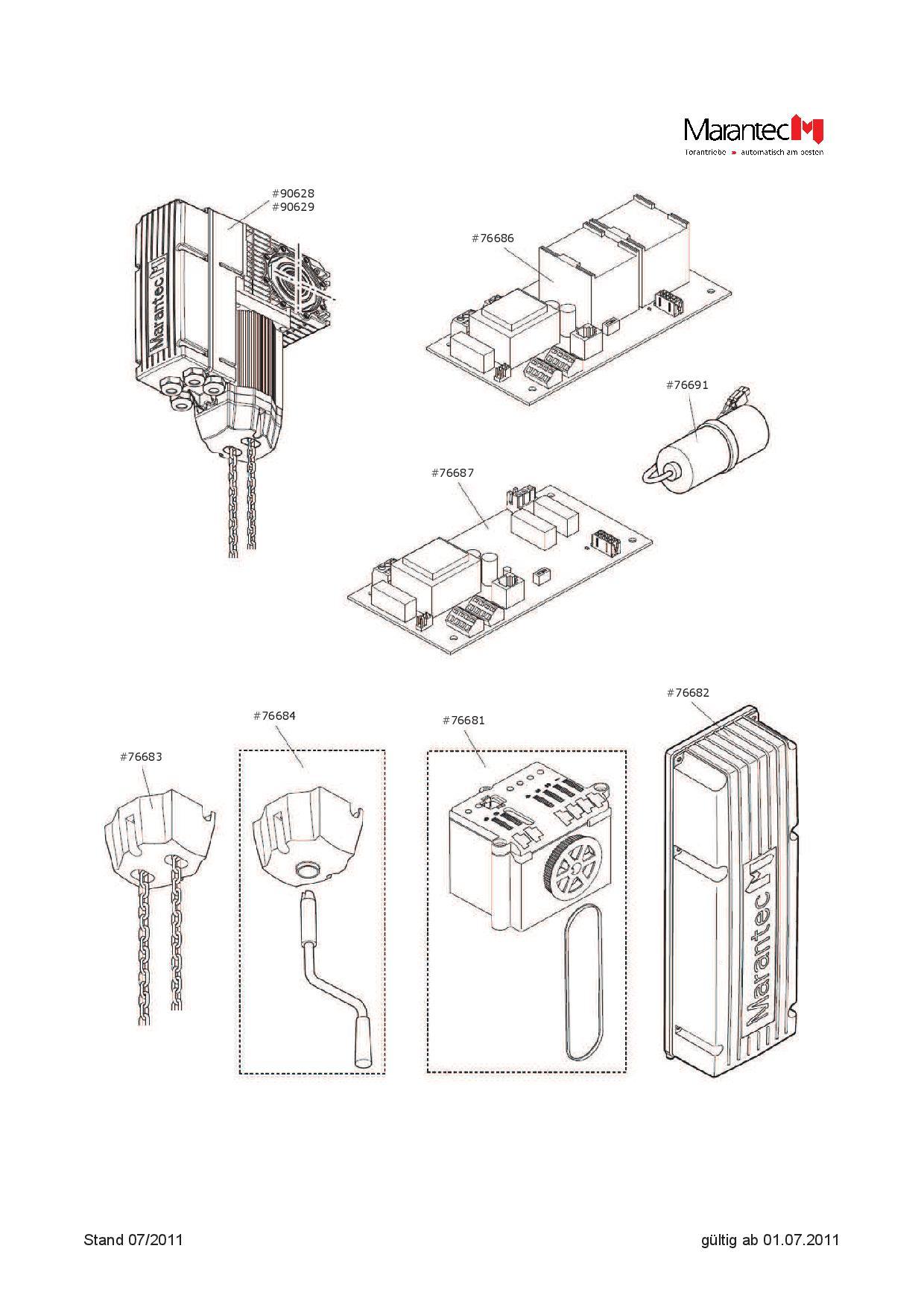 Ersatzteile Platine Control 400 V 3 Ph