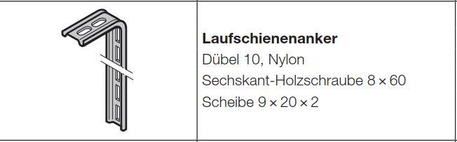 Hörmann Laufschienenanker 3047047